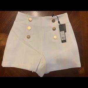 Bcbgmaxazria White Sailor Short